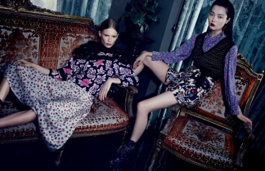 Sung Hee Kim, Alexandra Elizabeth by Emma Summerton for Vogue China November 2014