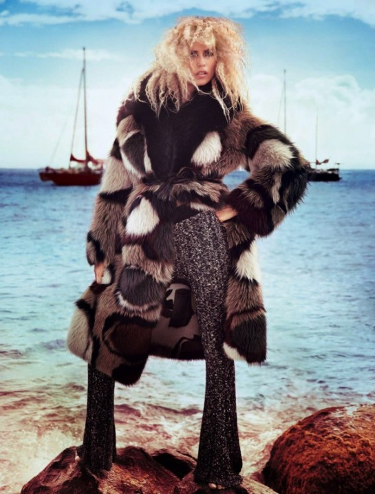 Natasha Poly by Inez van Lamsweerde & Vinoodh Matadin for Vogue Paris November 2014