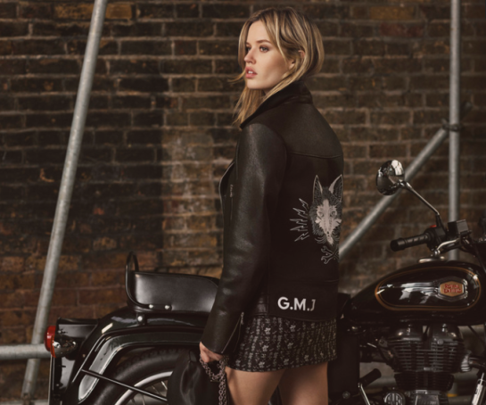 Georgia May Jagger, Mulberry muse and poster girl for the British rock 'n' roll lifestyle, has teamed up with Mulberry to create the ultimate London Cool Biker Jacket.