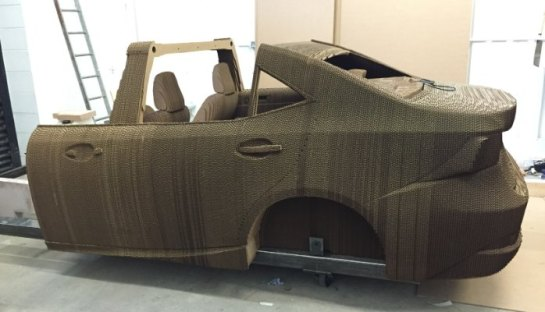 Lexus Origami inspired car in the making..