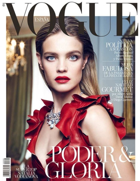 Natalia Vodianova stuns in Louis Vuitton on Vogue Spain cover by Nicos Bustos