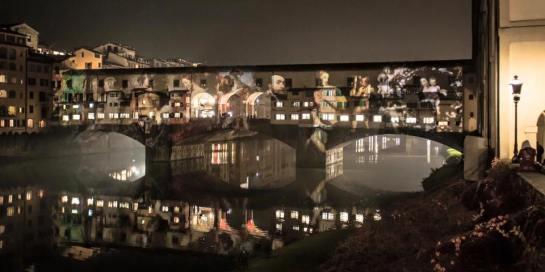 #florence #lights #mapping #colors #images #oldbridge #xmas #holidays #installation #led