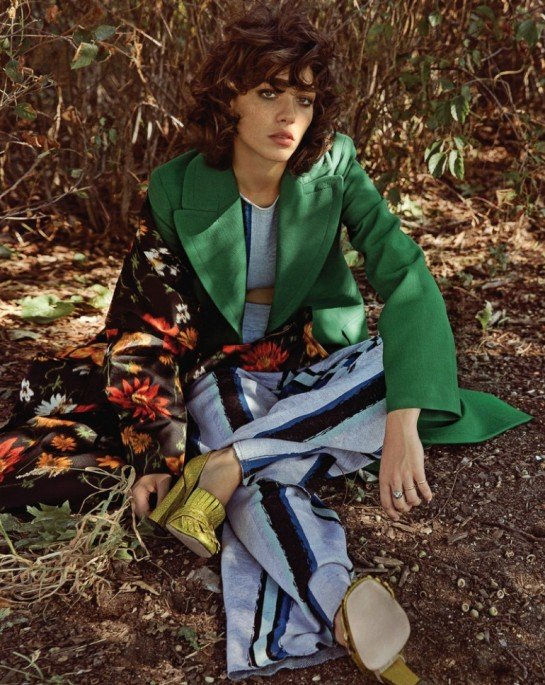 Steffy Argelich models colorful prints for Vogue Korea December 2015 by Hyea W. Kang